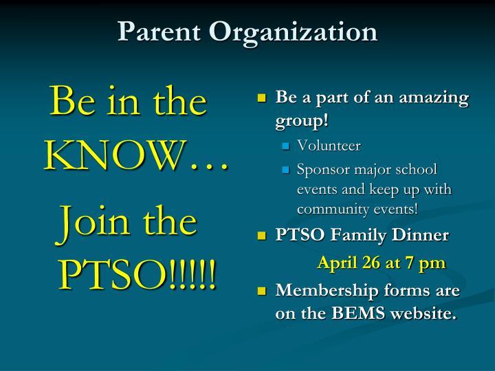 Parent Organization