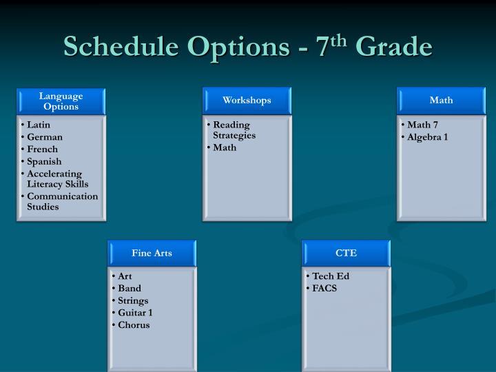 Schedule Options - 7