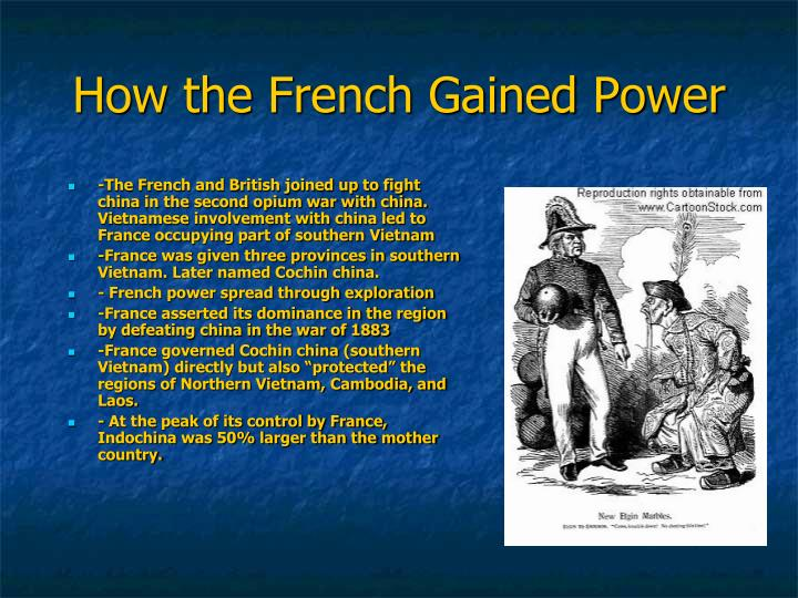 impact of french imperialism on indochina Freedom because the influence of colonizer is hard to erase in colonized   french indochina from 1902 to 1954it has been said that the true home of  franco.