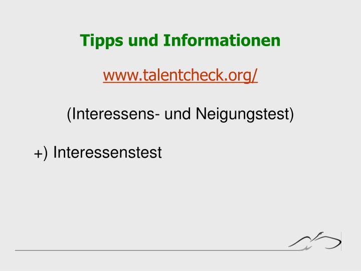 Tipps und Informationen