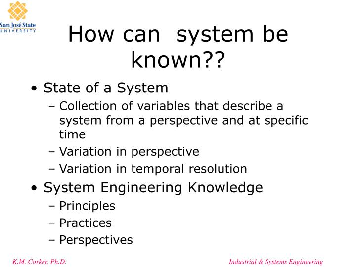 How can  system be known??