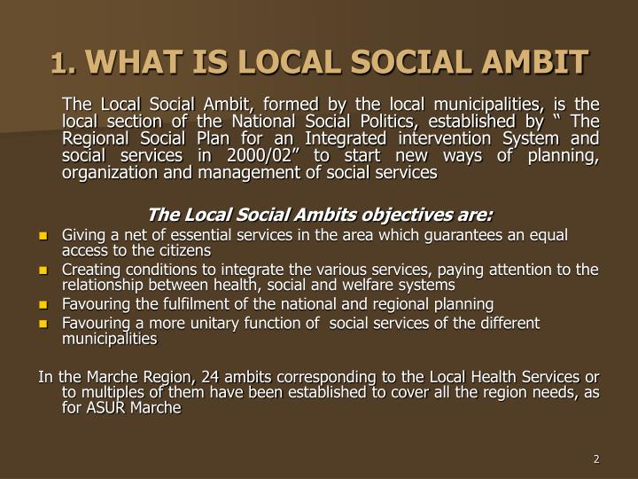 1 what is local social ambit