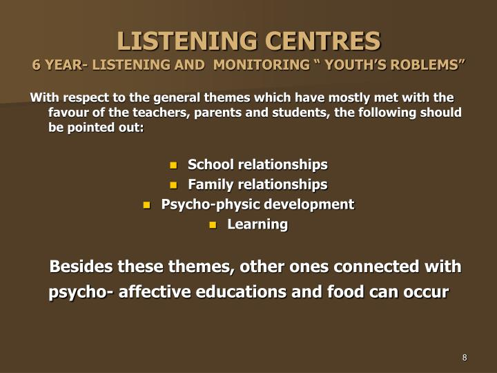 LISTENING CENTRES