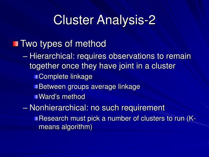 Cluster Analysis-2