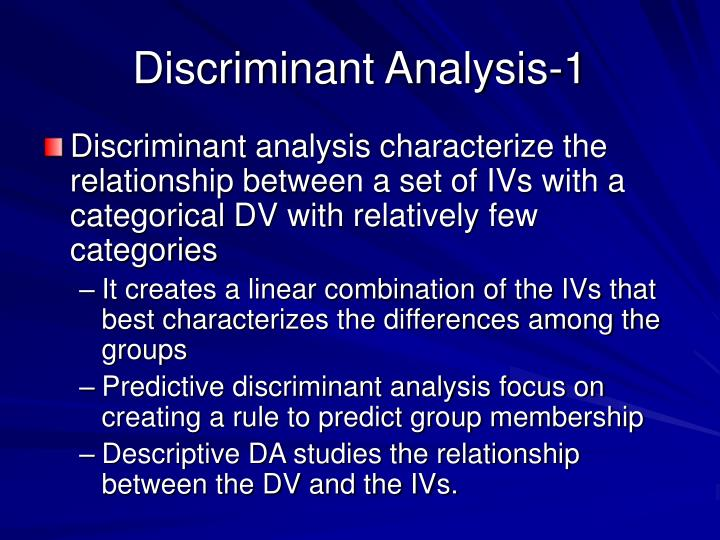 Discriminant Analysis-1