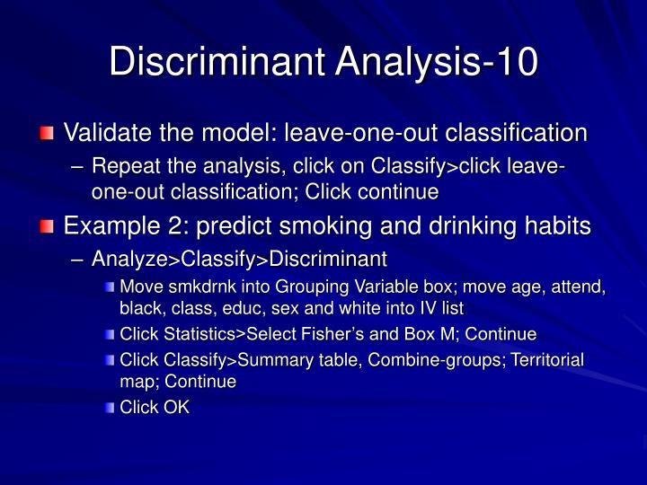 Discriminant Analysis-10