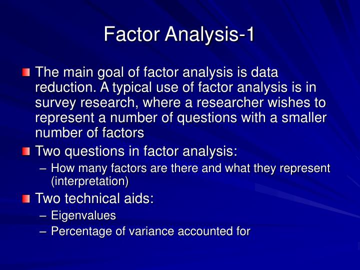 Factor Analysis-1