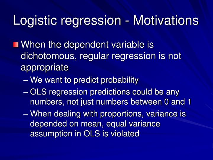 Logistic regression - Motivations