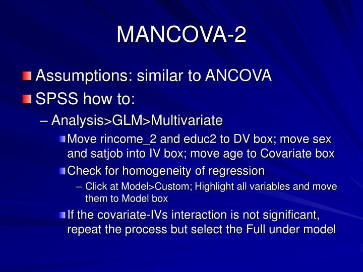 MANCOVA-2