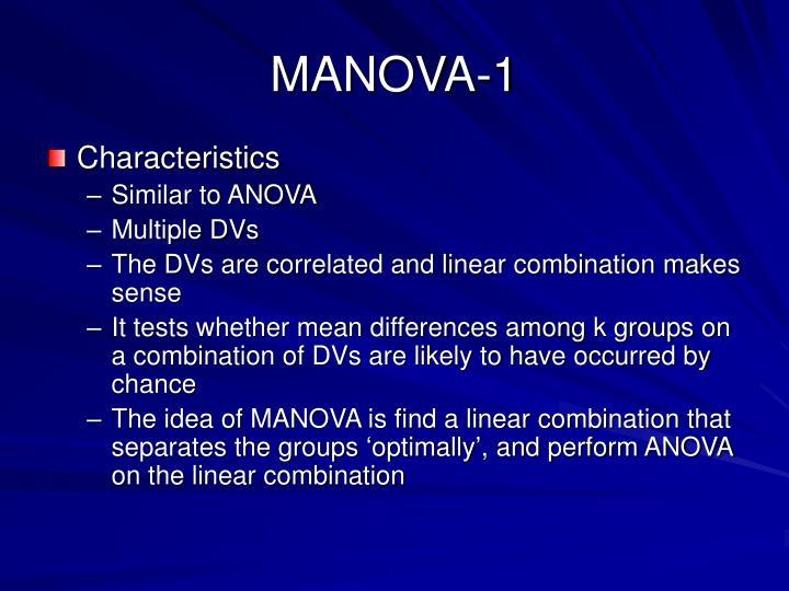 MANOVA-1
