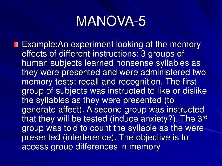 MANOVA-5