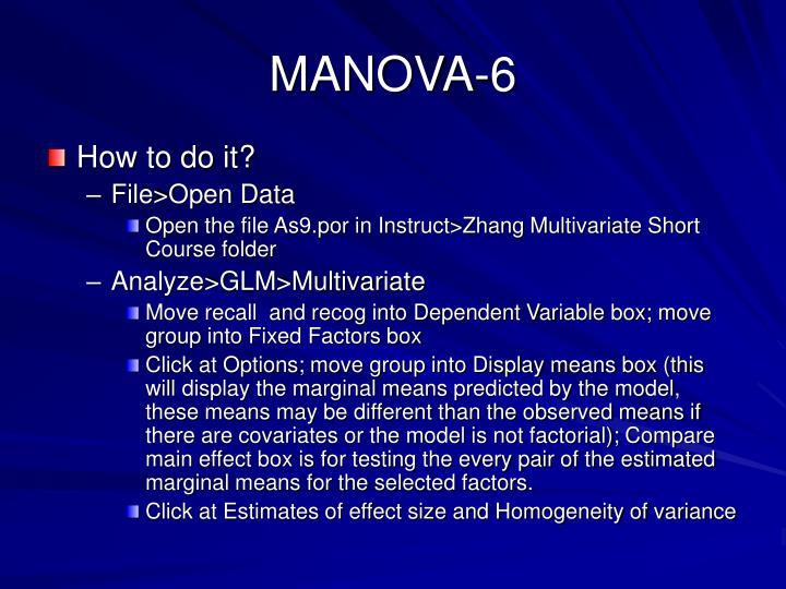 MANOVA-6