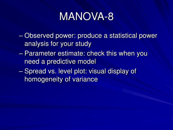 MANOVA-8