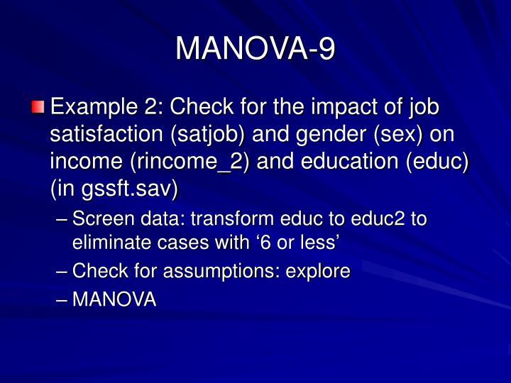 MANOVA-9