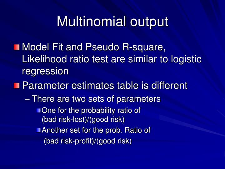 Multinomial output