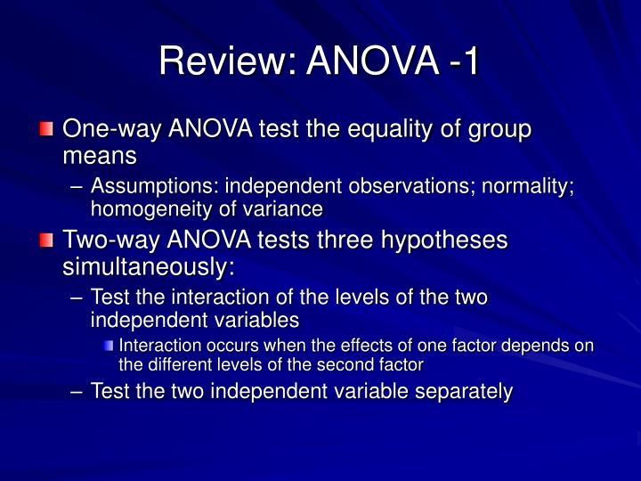 Review: ANOVA -1