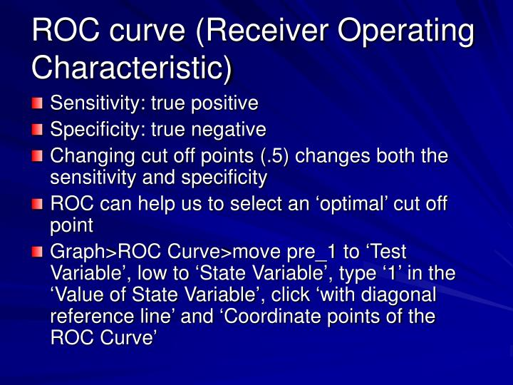 ROC curve (Receiver Operating Characteristic)