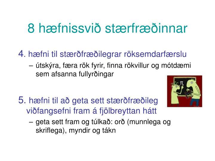 8 hæfnissvið stærfræðinnar