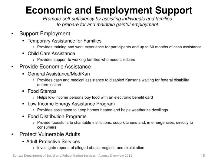 Economic and Employment Support