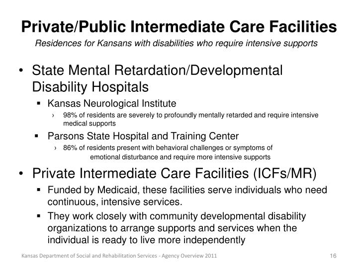 Private/Public Intermediate Care Facilities