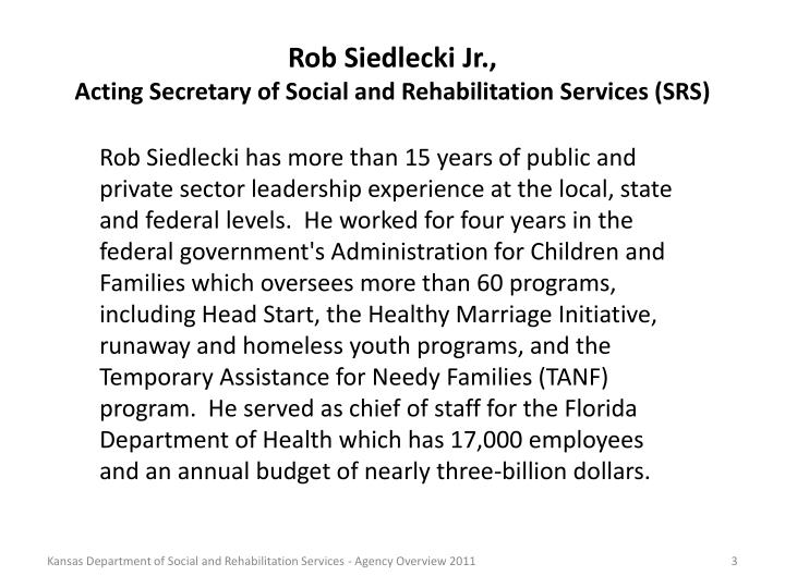 Rob Siedlecki Jr.,