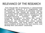relevance of the research2