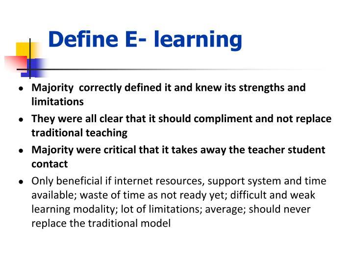 Define E- learning