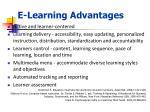 e learning advantages