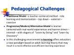 pedagogical c hallenges