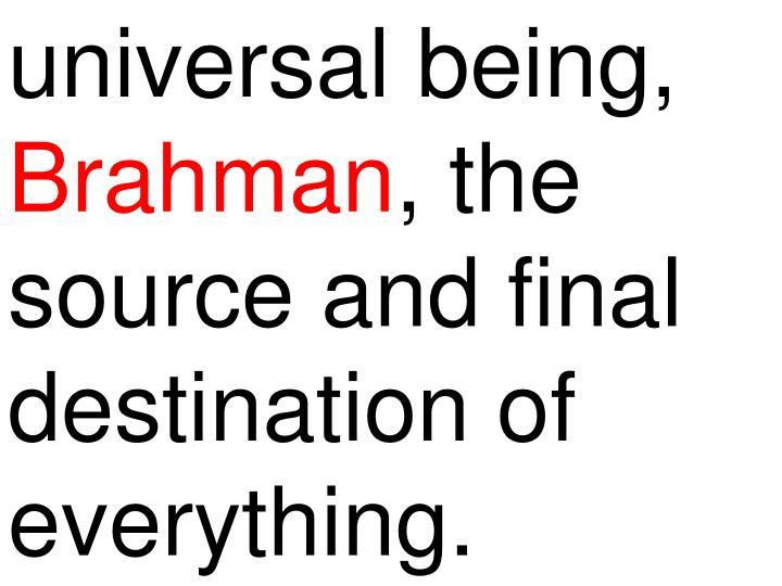 universal being,