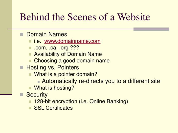Behind the Scenes of a Website