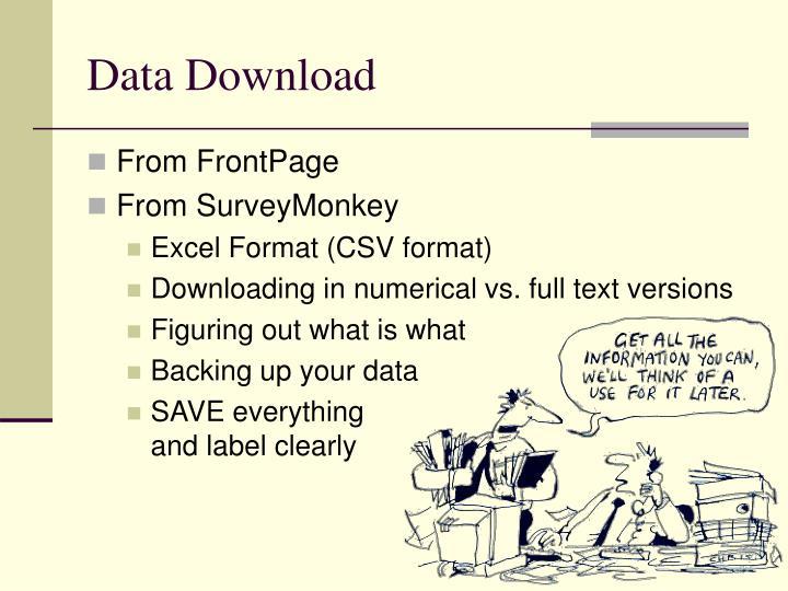 Data Download