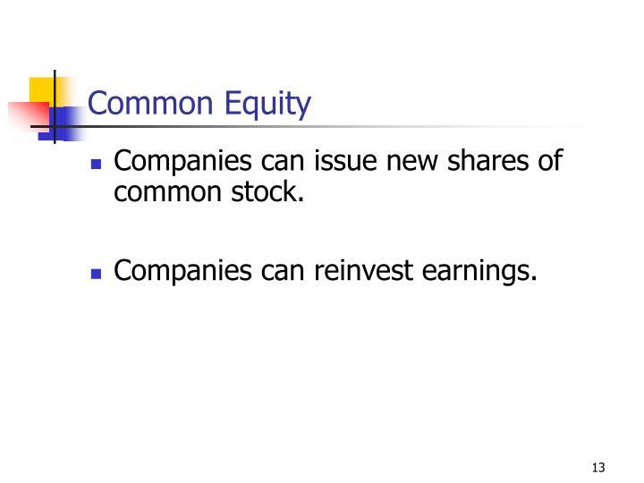 Common Equity
