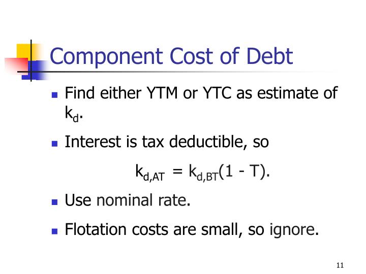 Component Cost of Debt
