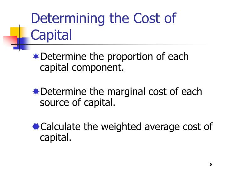 Determining the Cost of Capital
