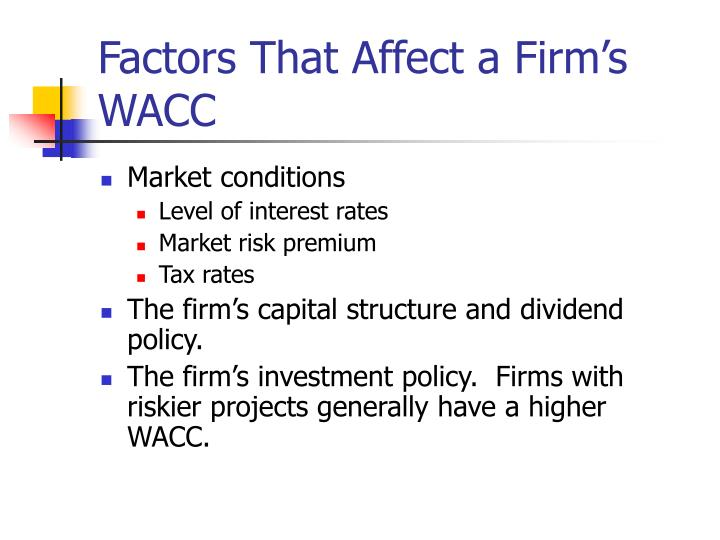 Factors That Affect a Firm's WACC