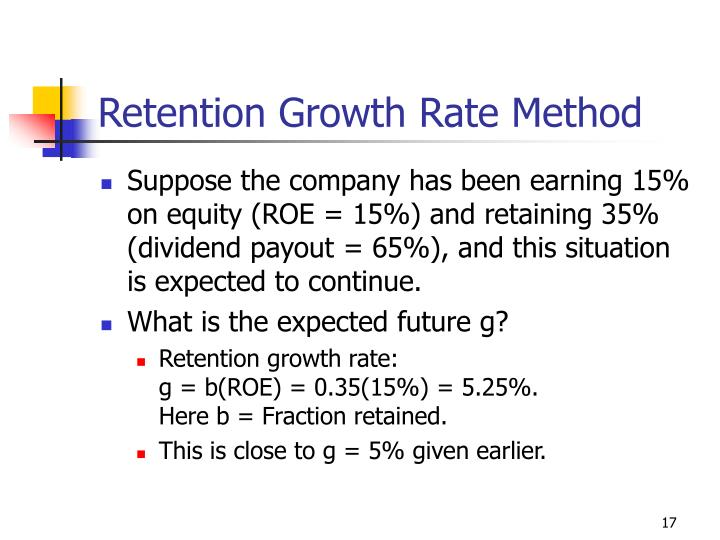Retention Growth Rate Method