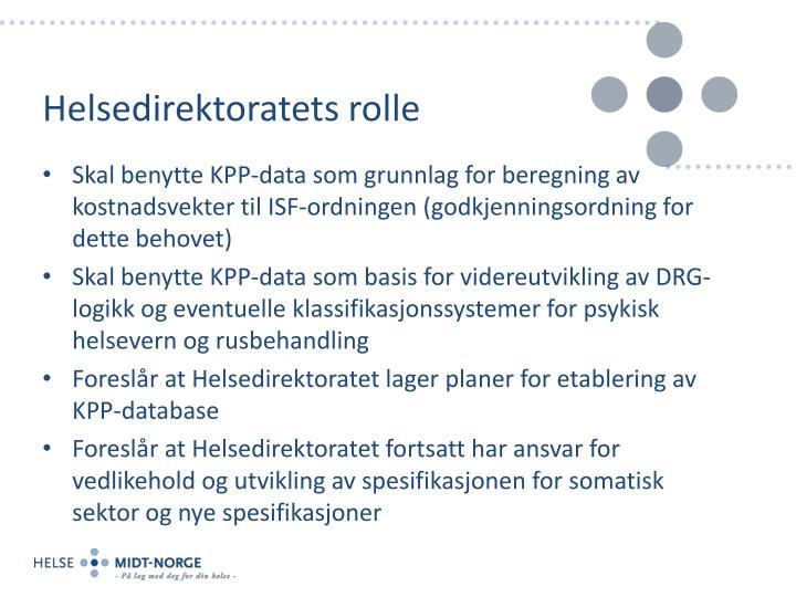 Helsedirektoratets rolle
