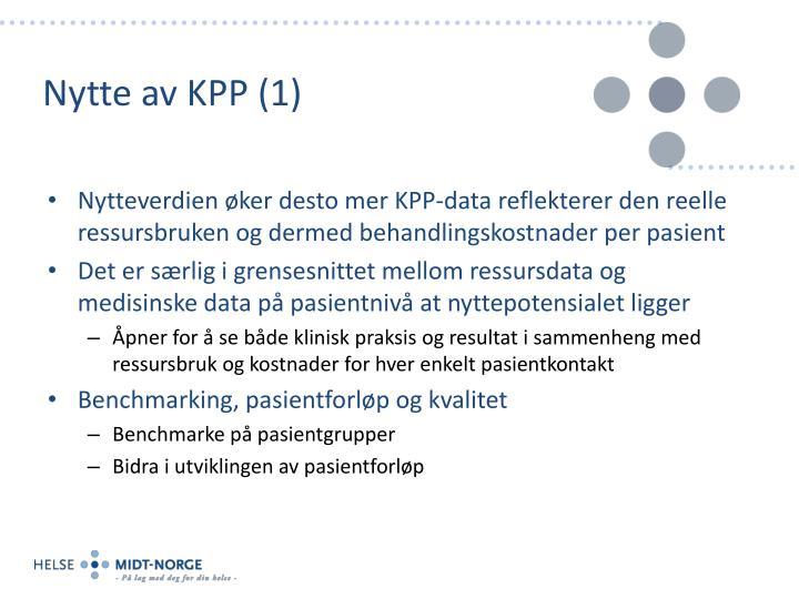 Nytte av KPP (1)
