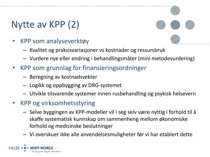 Nytte av KPP (2)