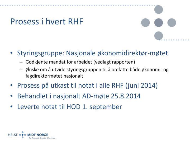 Prosess i hvert RHF