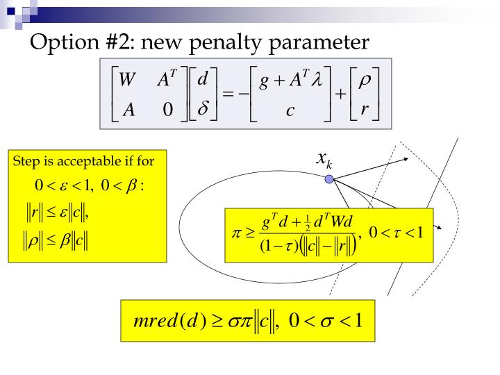 Option #2: new penalty parameter