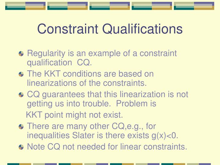 Constraint Qualifications