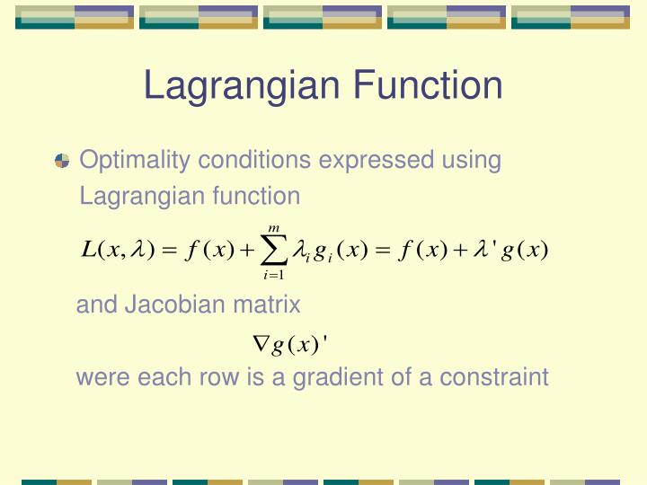 Lagrangian Function