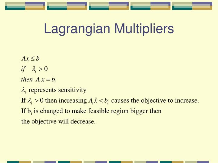 Lagrangian Multipliers
