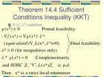theorem 14 4 sufficient conditions inequality kkt