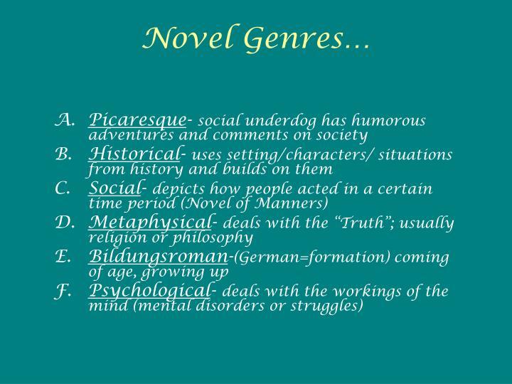 Novel Genres…