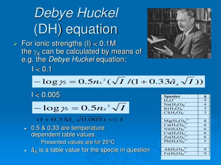 Debye Huckel