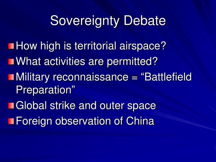 Sovereignty Debate