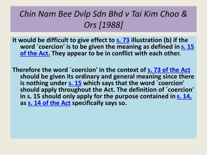 Chin Nam Bee